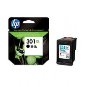 Tinteiro Original p/ HP Deskjet 1000/1050/2050/2510/2512/2540/3050 All-in-One Series/Envy 4500/5530 (CH563EE) Nº301XL - Preto (Alta Capacidade)
