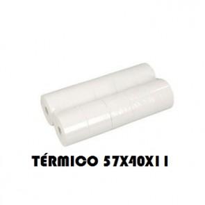 Rolos Papel Termico 57x40x11 Pack 10 (Multibanco)Descrição Técnica:Medida: 57mmDiâmetro: 40mmCasquilho: 11mmGramagem: 55/58gMetragem: 15.5mts